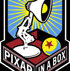 """Logo der Workshop-Reihe """"Pixar in a Box"""" wozu auch der Storytelling-Workshop gehört."""