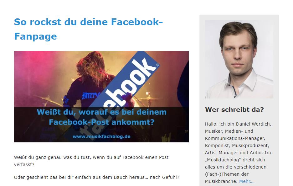 deine Facebook-Fanpage