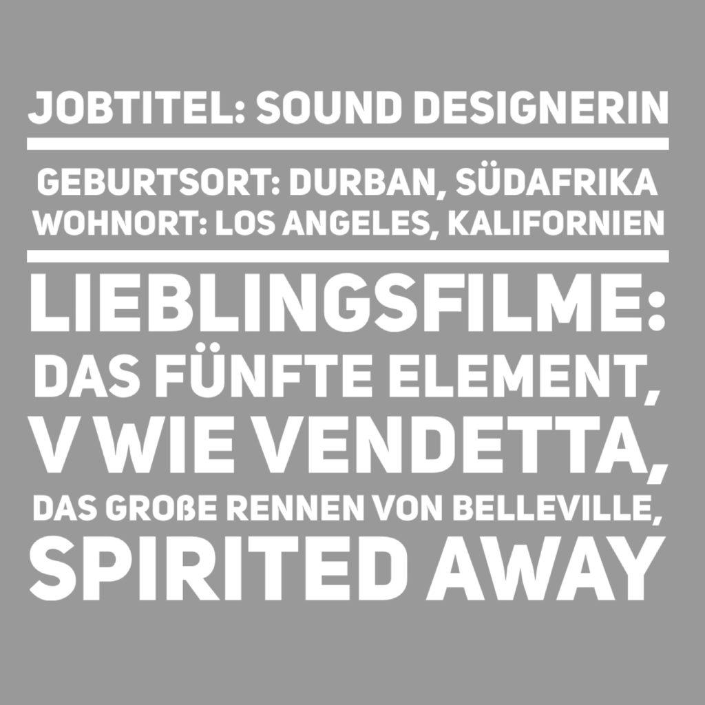 Sound designerin