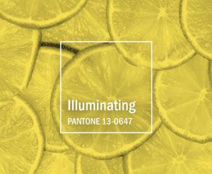 Pantone-Farbe-Illuminating-Gelb