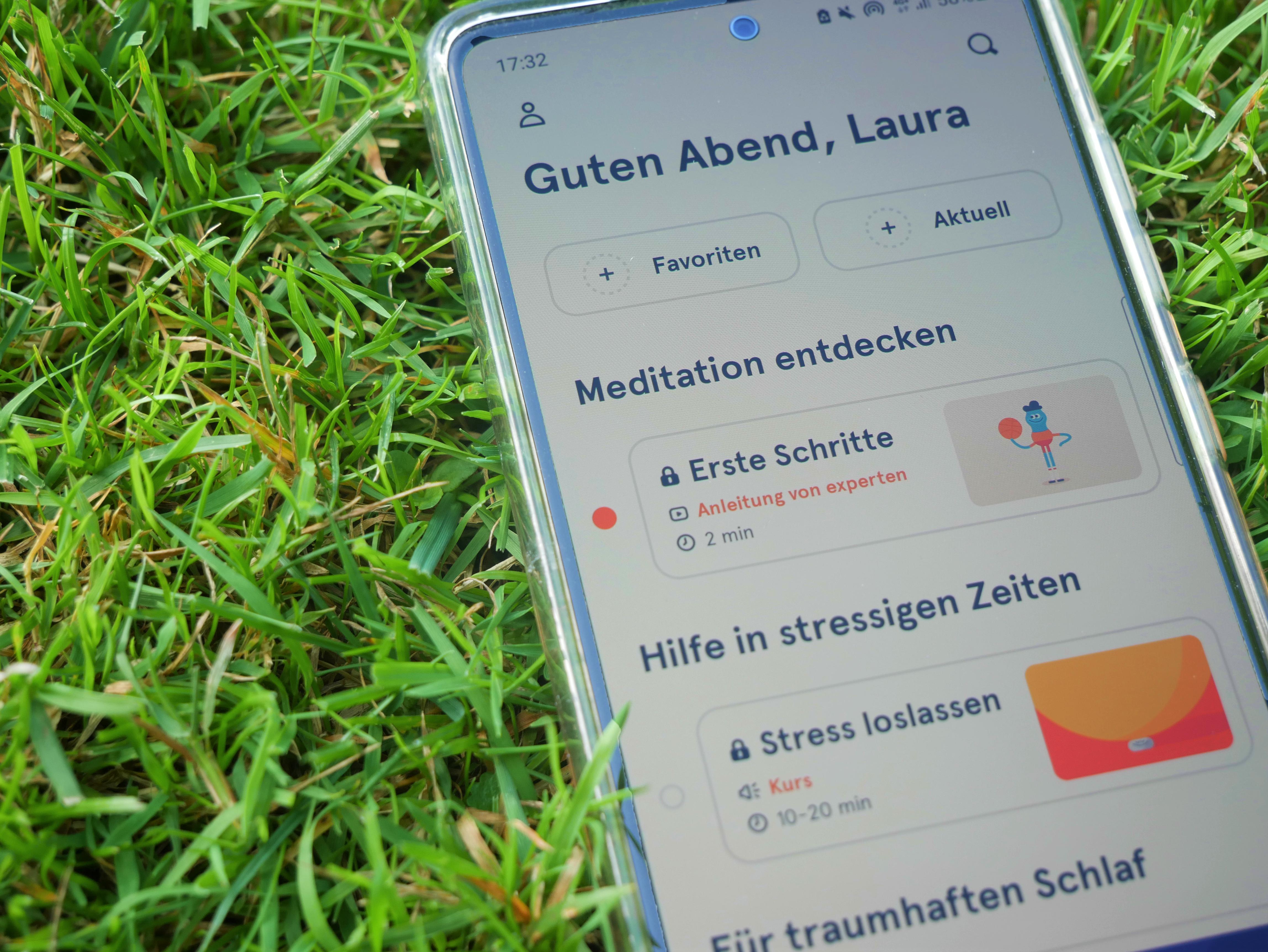 Headspace App Startseite