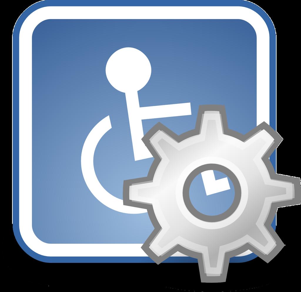 Rollstuhl-Symbol für mehr Barrierefreiheit bei den Einstellungen