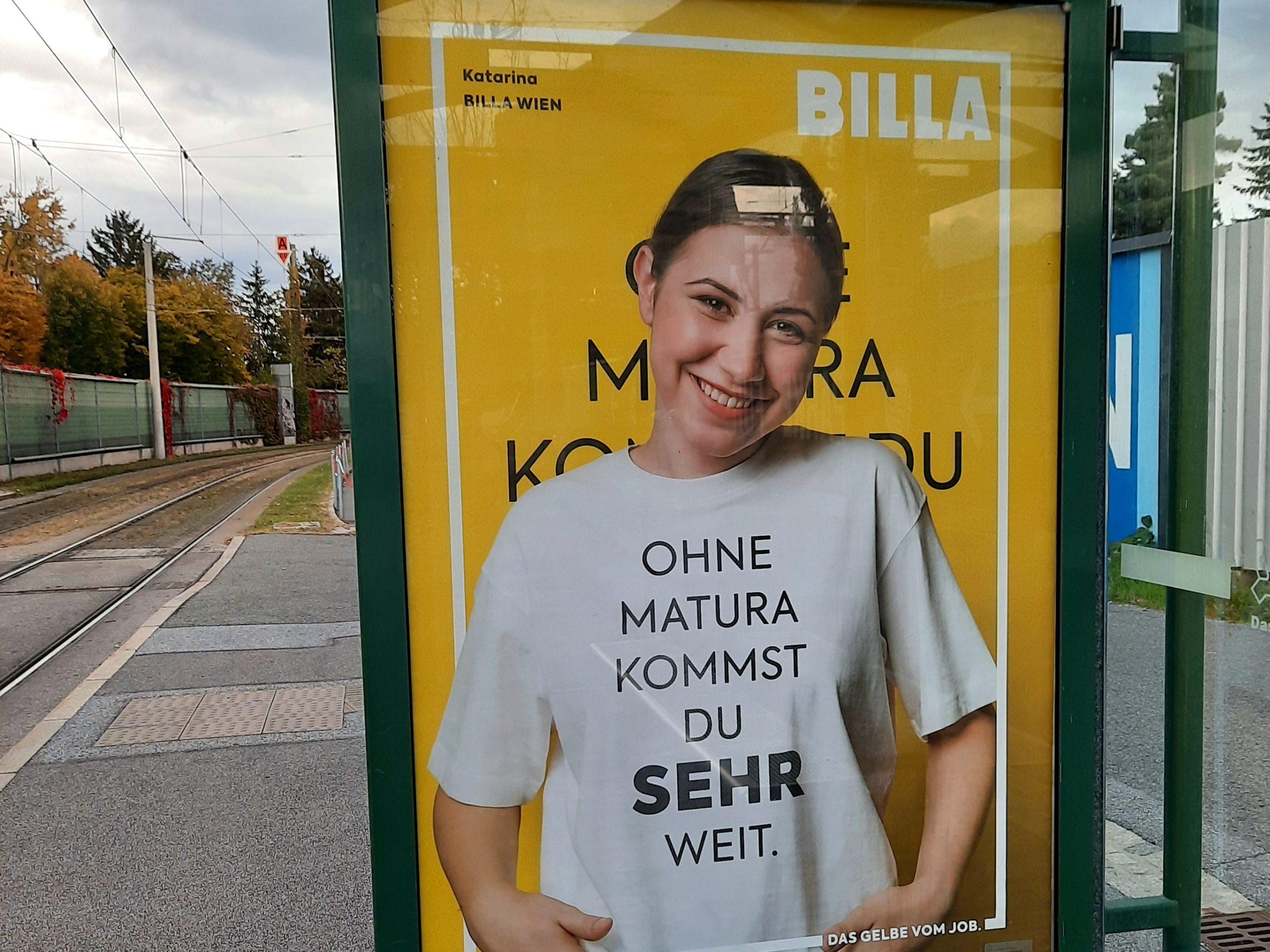 Werbeplakat Billa Kampagne; Quelle: Laura Schutti