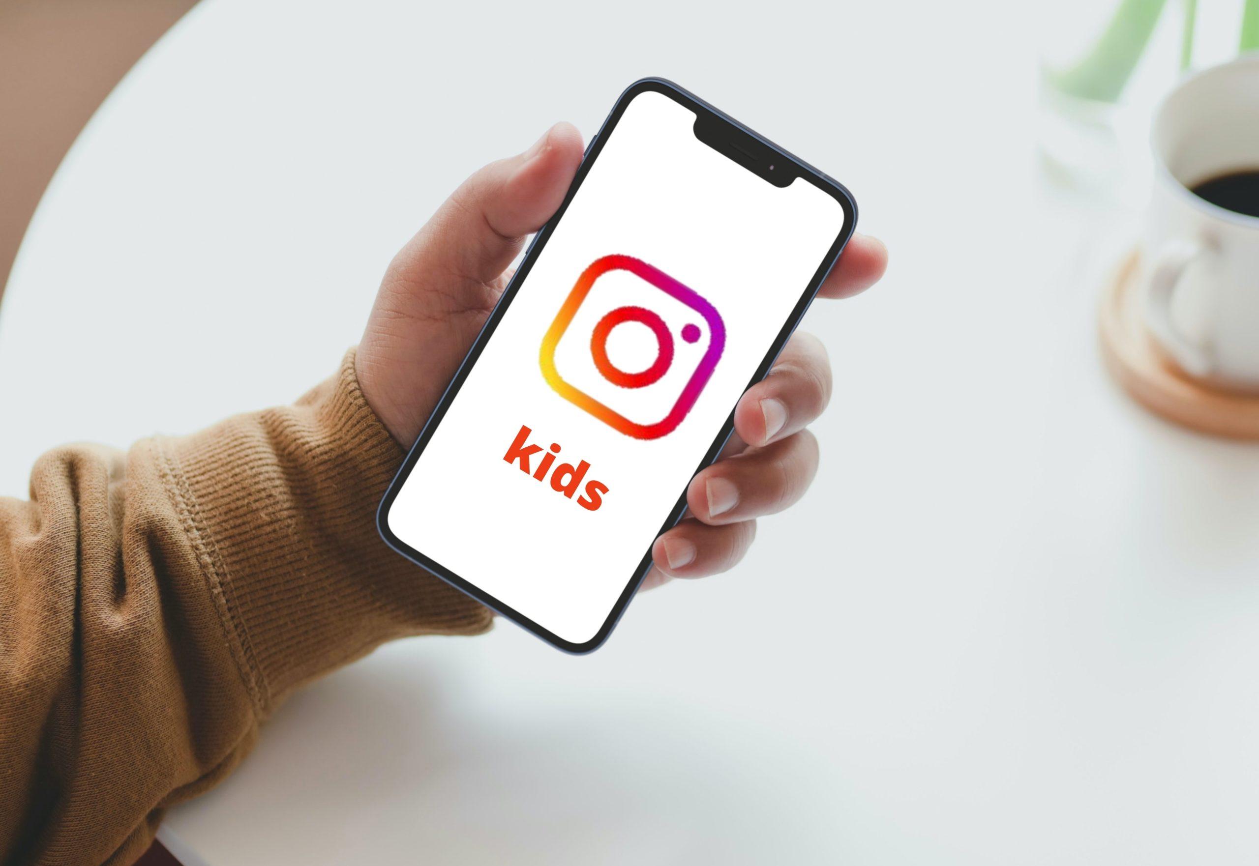 Smartphone mit Instagram Logo